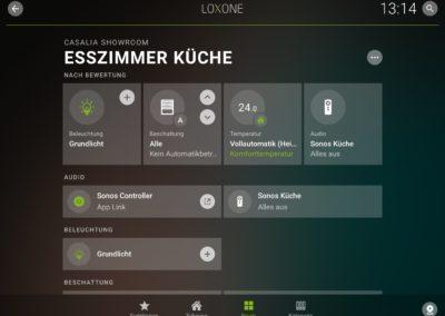 Screenshot Loxone App Version 9